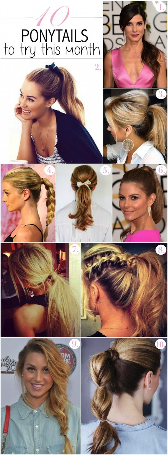 10 ponytails to try this month