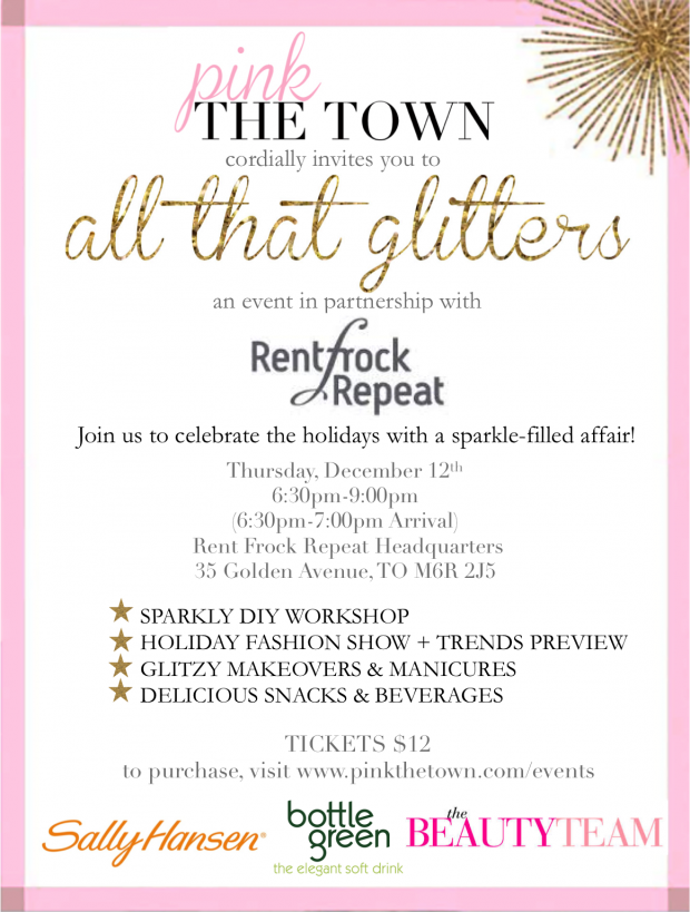 pink the town event all that glitters